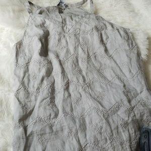 Linen Tank Grey